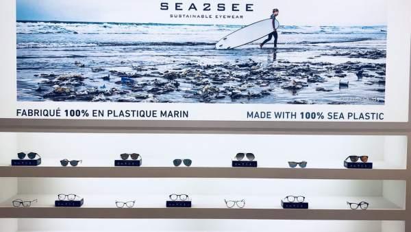 Gafas hechas con viejas redes de pesca