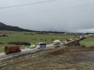 Accidente en Abejar (Soria) 09-04-2018