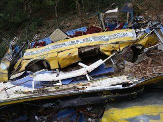 Trágico accidente de autobús en la India