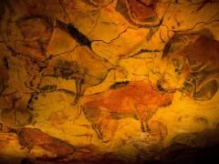 Pintura en las cuevas de Altamira.
