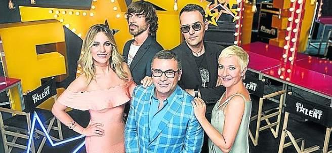 Santi Millán, Risto Mejide, Edurne, Jorge Javier Vázquez y Eva Hache en 'Got Talent'.