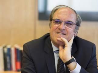 Ángel Gabilondo, portavoz socialista en la Asamblea de Madrid, durante la entrevista.