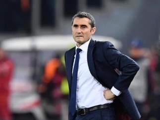 Erensto Valverde, entrenador del Barcelona.