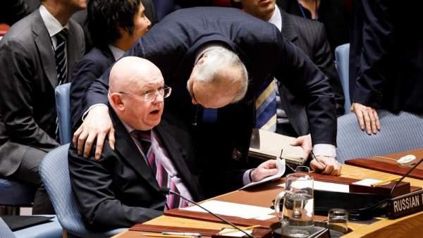 Embajadores de Rusia y Siria en la ONU