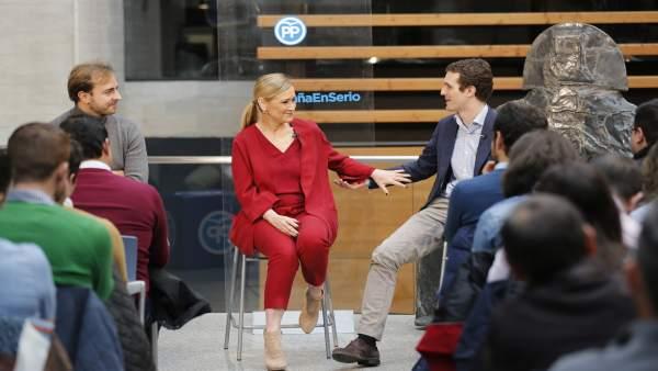 Pablo Casado y Cristina Cifuentes en un acto del PP (archivo)