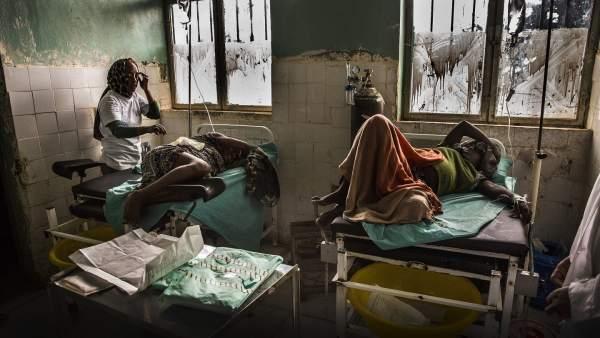 Mujeres en servicio de maternidad en Etiopia.