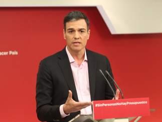 Pedro Sánchez, secretario general del PSOE, en Ferraz.