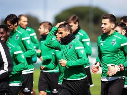 El Sporting de Portugal, en un entrenamiento.