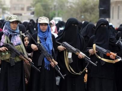 Manifestación en Yemen contra Arabia Saudí