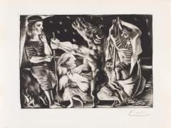Pablo Picasso. Minotauro ciego guiado por una niña en la noche, Noviembre de 1934