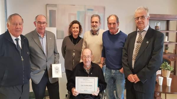 Pedro Parellada, durante el homenaje del Colegio de Ingenieros.