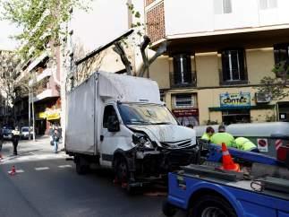 camion atropello barcelona