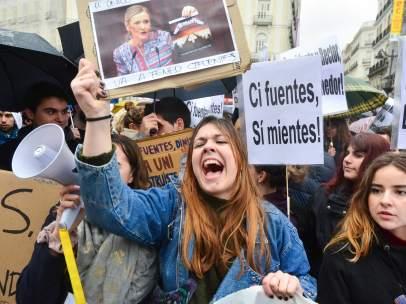 Protesta por Cifuentes