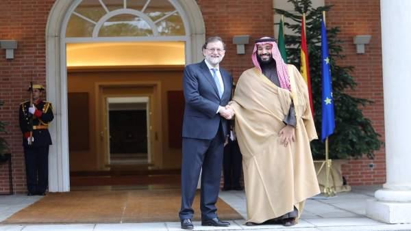 Mariano Rajoy y el príncipe heredero de Arabia Saudí
