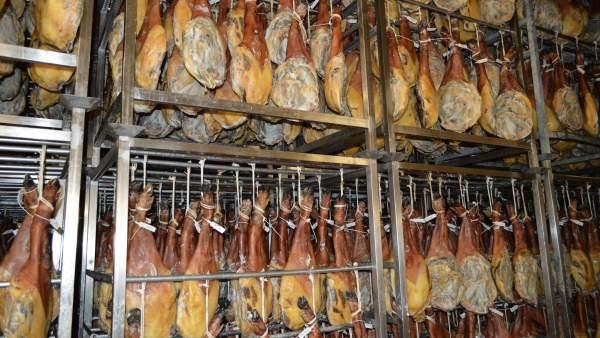Secadero de jamones de Bonàrea en Guissona (Lleida)