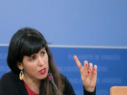 Teresa Rodríguez, en rueda de prensa