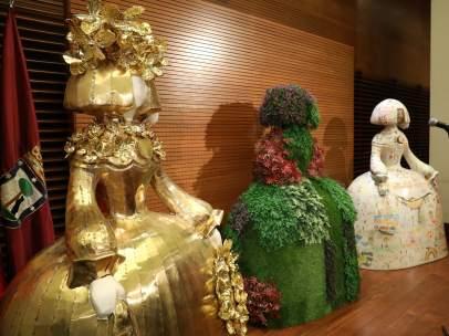 Algunas de las esculturas intervenidas para el proyecto 'Meninas Madrid Gallery'