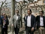 El presidente del Gobierno, Mariano Rajoy, junto al coordinador general del PP