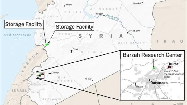 Mapa Del Ataque En Siria Estos Son Los Puntos Del País Donde Ha
