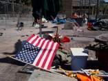 Campamento de personas sin hogar