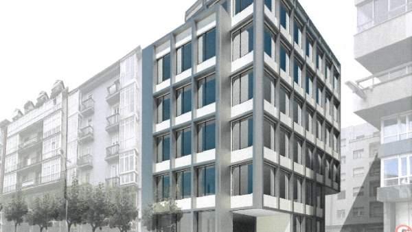 Infografía del nuevo edificio municipal de la calle La Paz