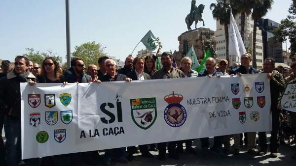 Manifestación sí a la caza