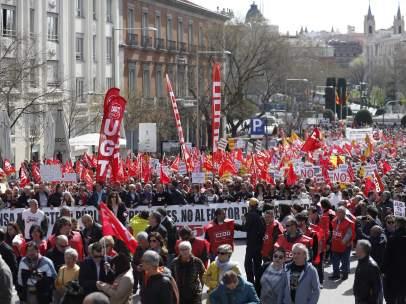 Manifestación de pensionistas en Madrid