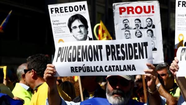 Manifestación por los presos independentistas
