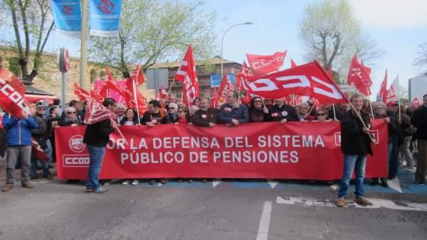 Manifestación pensiones Toledo