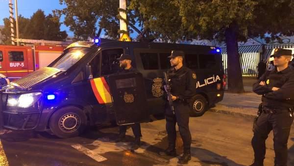 Dispositivo de la Policía Nacional en la Feria de Abril