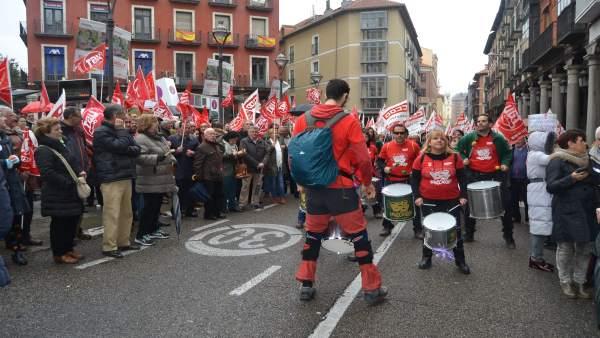 Valladolid (15-04-2018).- Manifestación pensiones dignas