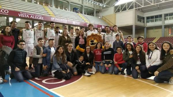 Partido de baloncesto celebrado este domingo