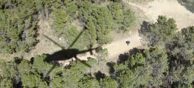 Rescate de bomberos de Alicante, rescate, monte, helicóptero
