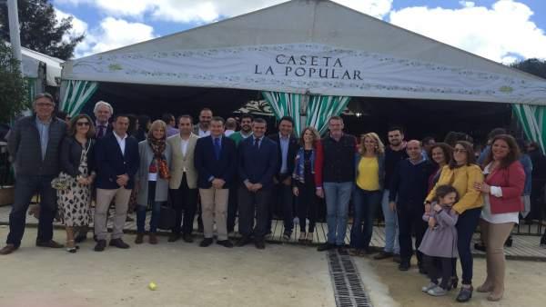 Acto de convivencia del PP en la Feria de Vejer (Cádiz)