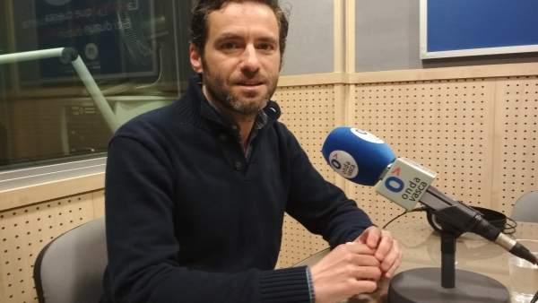 Borja Sémper, durante la entrevista de este lunes
