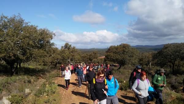 Marcha ecologista en la vereda del Salto de la Trocha