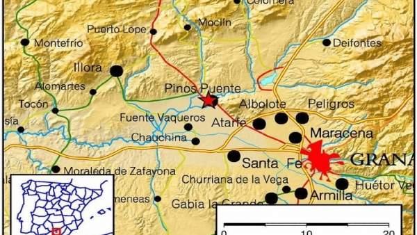 Seismos de baja intensidad en el área metropolitana de Granada