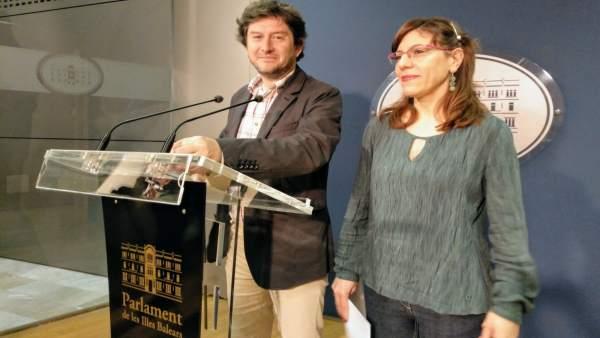 Alberto Jarabo y Laura Camargo en rueda de prensa