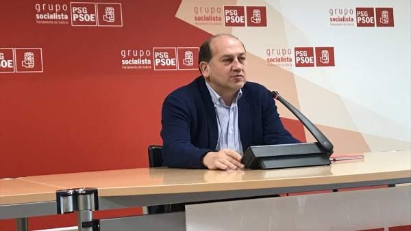 El portavoz parlamentario del PSdeG, Xoaquín Fernández Leieceaga