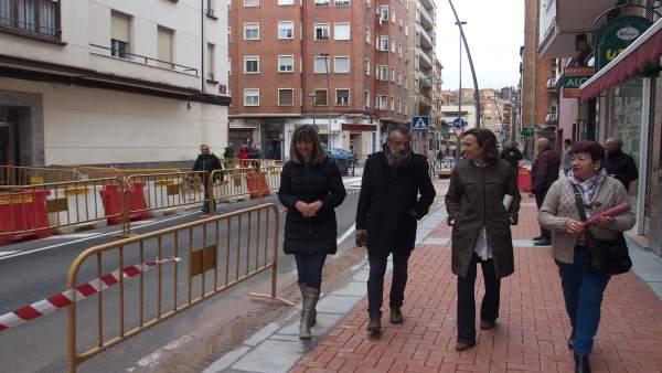 Gamarra, en la visita a Vélez de Guevara