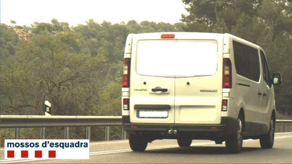 Furgoneta circulando a 193km/h en Tarrés (Lleida).