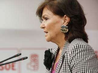 Carmen Calvo, secretaria de Igualdad y número cuatro de la dirección del PSOE.