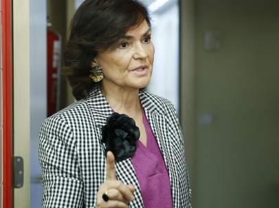 La secretaria de Igualdad y número cuatro del PSOE, Carmen Calvo.