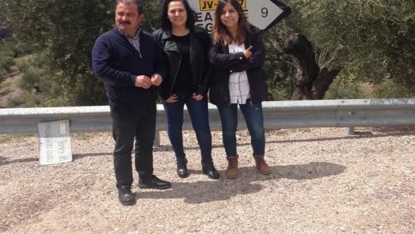 Visita a la carretera JV-7007, en Beas de Segura.