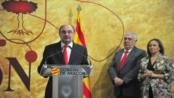 Javier Lambán este lunes en Teruel.