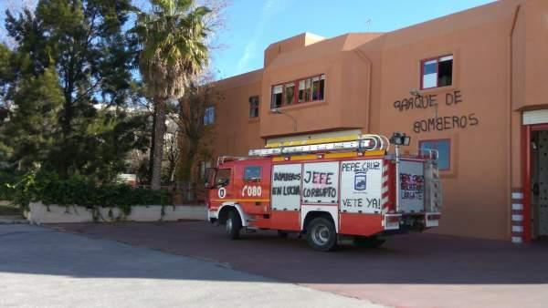 Protesta bomberos Málaga