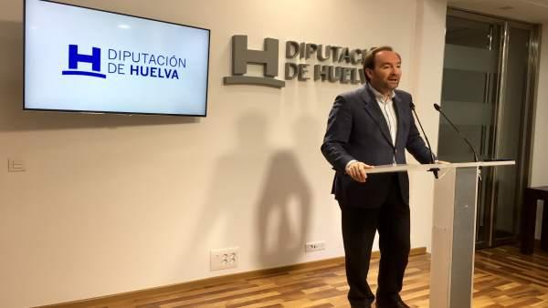 El vicepresidente de la Diputación de Huelva, José Fernández.