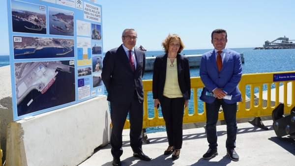 Inauguración del nuevo duque de alba del Puerto de Carboneras