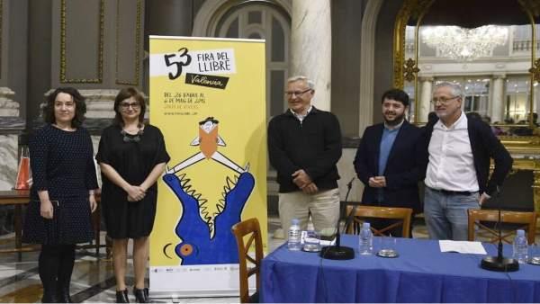 Tello, Amoraga. Ribó y Llarraz presentan la 53 Fira del Llibre de València