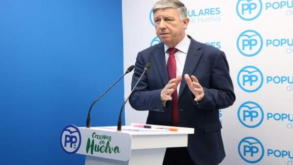 El diputado nacional por el PP de Huelva Carmelo Romero.
